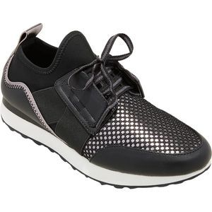 A New Day Deena Lace Up Sneakers Black New